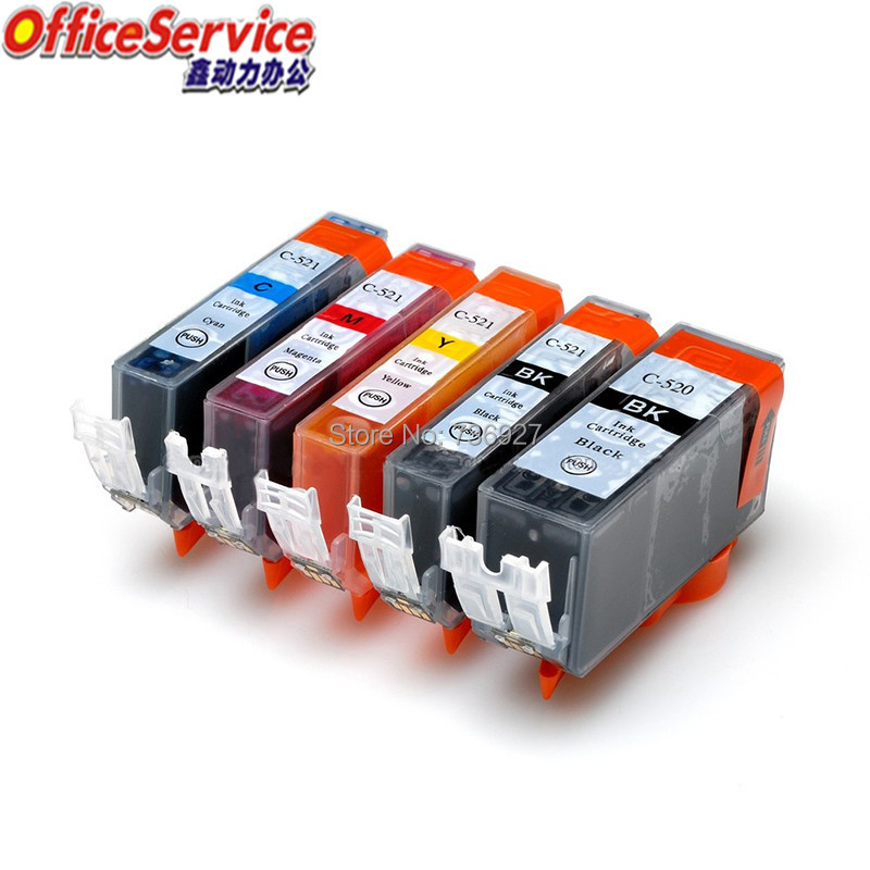 Compatible <font><b>ink</b></font> <font><b>cartridge</b></font> PGI-520 CLI-521 PGI520 CLI521 for <font><b>Canon</b></font> MP540 MP550 MP560 MP620 <font><b>MP630</b></font> MP640 IP3600 MP980 MX870 printer image