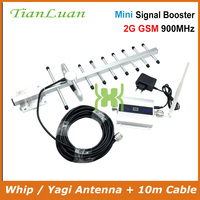 TianLuan GSM 900MHz Mobile Phone 2G Signal Booster GSM Signal Repeater Cell Phone Amplifier + Omni / Yagi Antenna with 10m Cable