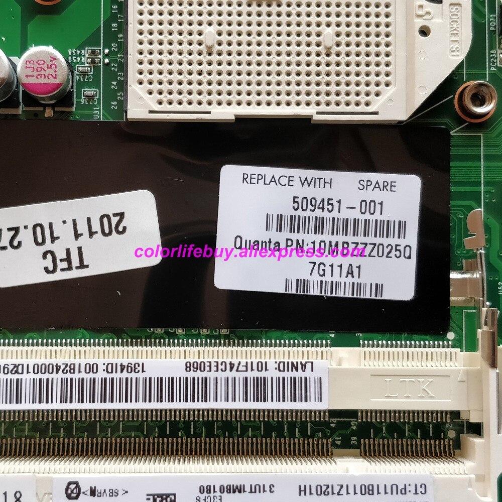 Image 3 - Натуральная 509451 001 аккумулятор большой емкости DAUT1AMB6E1 M92/512 MB Материнская плата ноутбука для hp павильон DV6 DV6 1000 DV6Z 1000 серии ноутбук ПК-in Материнская плата для ноутбука from Компьютер и офис