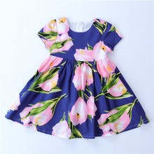 flower Dresses for girls clothing summer toddler baby frock Princess cuts kids dresses children clothes fashion holiday
