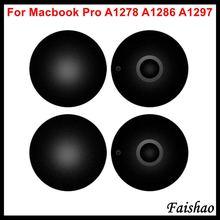 """Faishao 100 pçs/lote novo caso inferior capa de borracha pés pé para apple macbook pro 13 """"15"""" 17 """"a1278 a1286 a1297 substituição"""