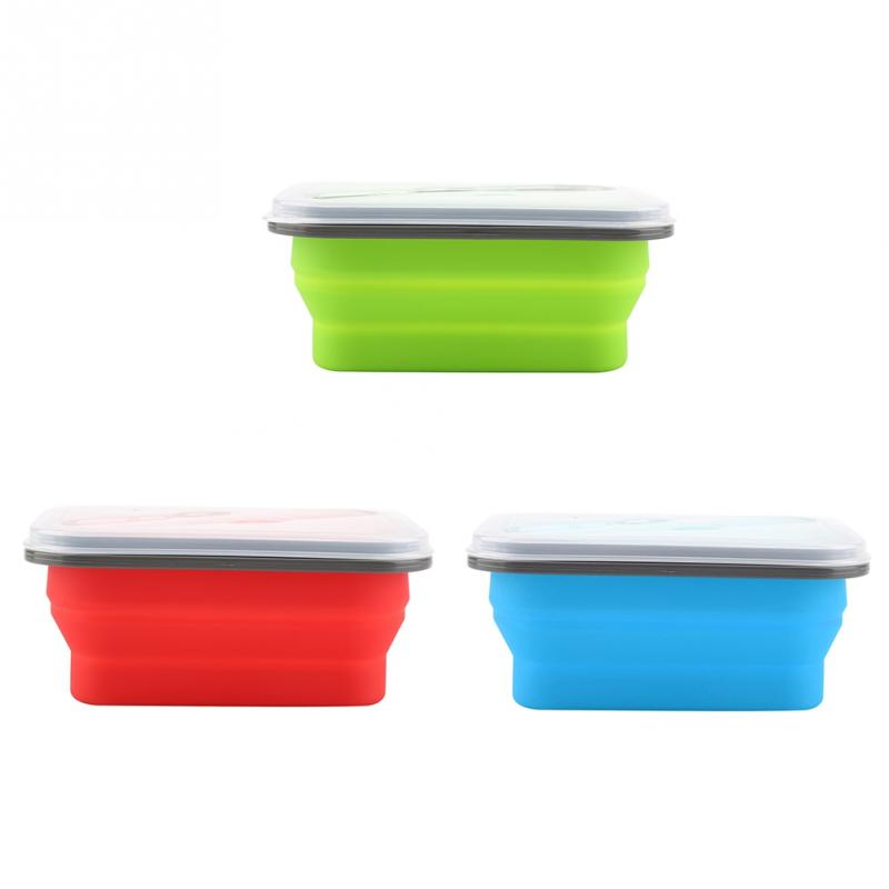 600ml Silicone Collapsible Portable Lunch Box Bowl Folding Food Storage Container Bento Boxes600ml Silicone Collapsible Portable Lunch Box Bowl Folding Food Storage Container Bento Boxes