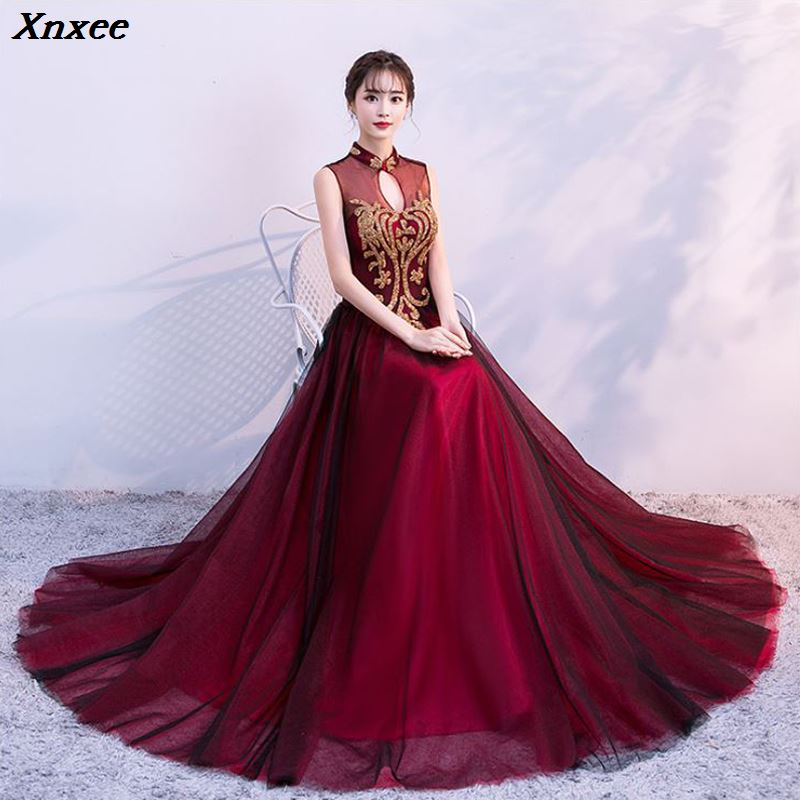 Xnxee Sequined Diamonds 2019 Women s elegant long gown party proms for gratuating date ceremony gala