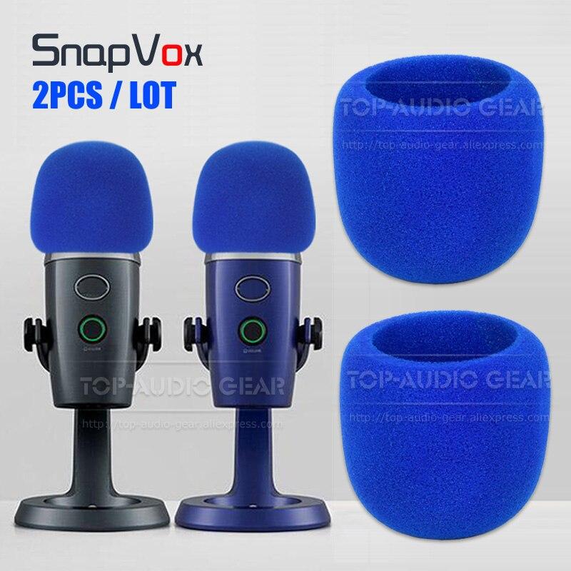 2PCS Blue Microphone Foam