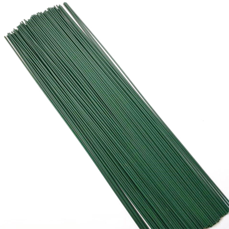 12pcs lot Green 60cm Plastic Florist Stub Stems Floral Wire Wedding Bridal Bouquet Craft Decor Home Artificial Decorations in Artificial Dried Flowers from Home Garden