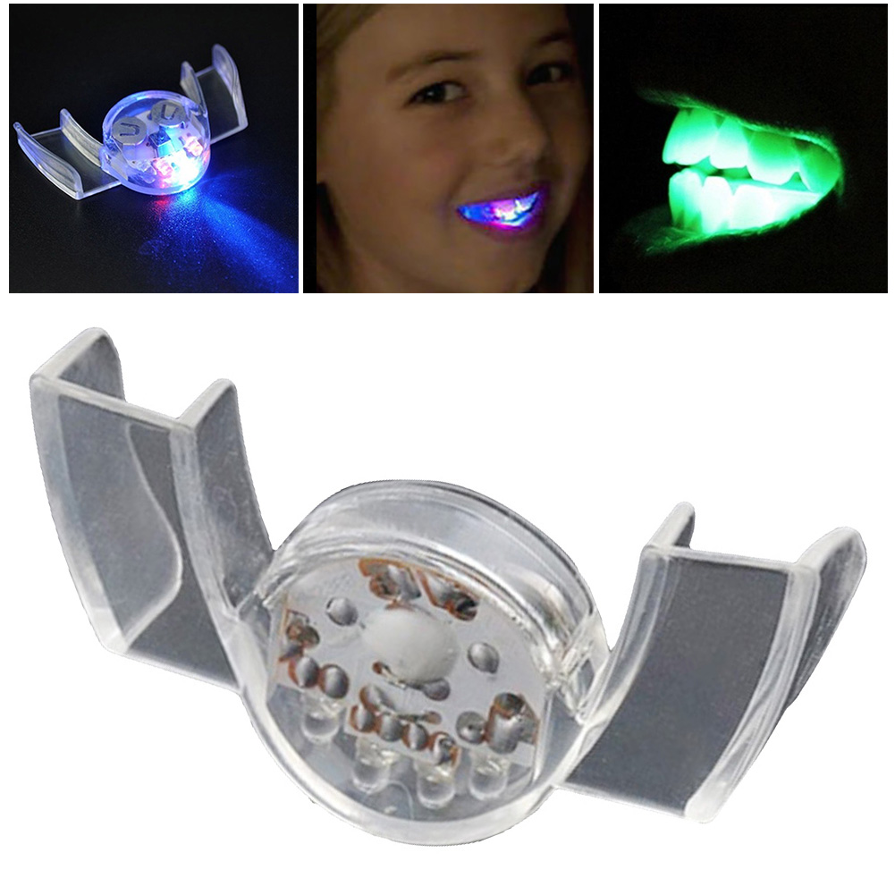 Novelty Prank Toys Halloween LED Flashing Teeth Mouth Guard Party Mouthpiece Glow Tooth Halloween Gifts Party Supply Glow ToothNovelty Prank Toys Halloween LED Flashing Teeth Mouth Guard Party Mouthpiece Glow Tooth Halloween Gifts Party Supply Glow Tooth