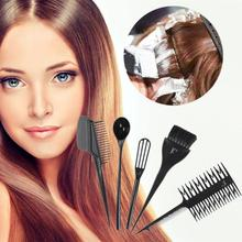 High Quality 6pcs Hair Dye Tool Kit Salon Hair Coloring Bowl Hair Color Cream Mixer Hair Color Brush Comb Hairdressing Set