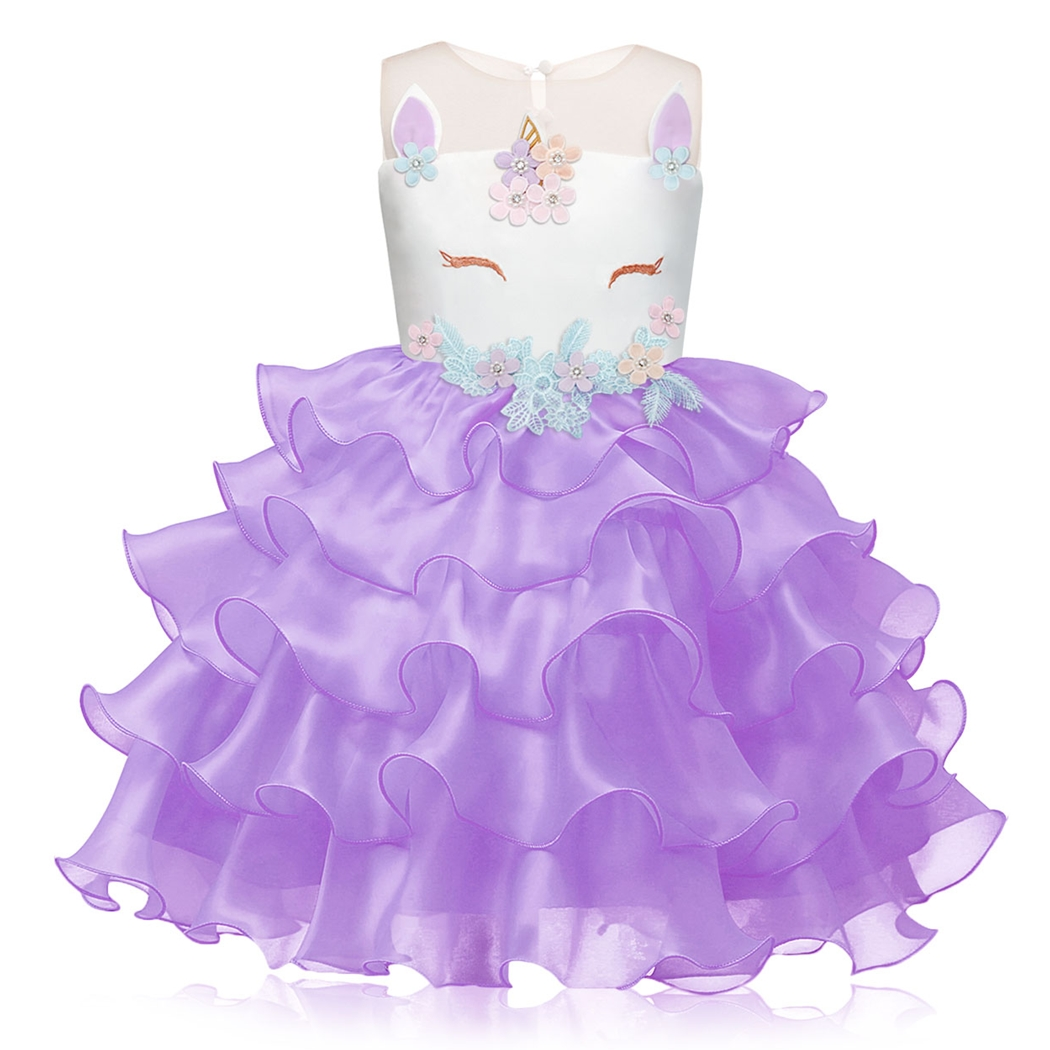 AmzBarley Flower Baby Little Girl Tutu Tulle Dress Lace Birthday Party Wedding