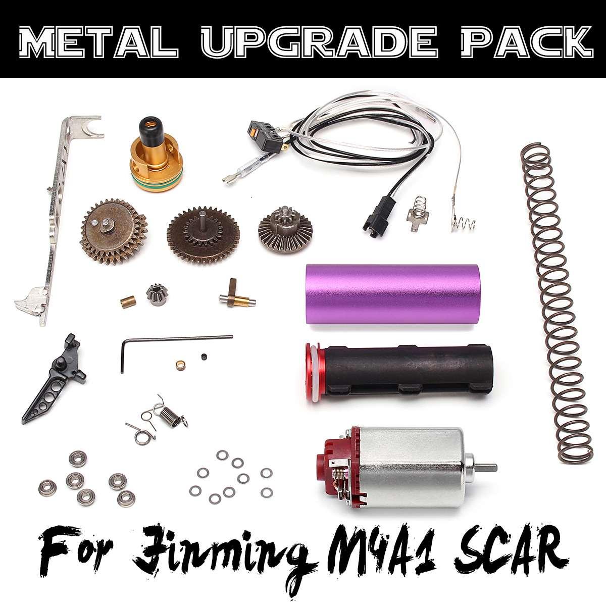 Mise À Niveau en métal Moteur Engrenages Échelle Pour Jinming Gen8 M4A1 CICATRICE Jeu gel aqueux Balle Blasters Fusils Jouets accessoires de remplacement
