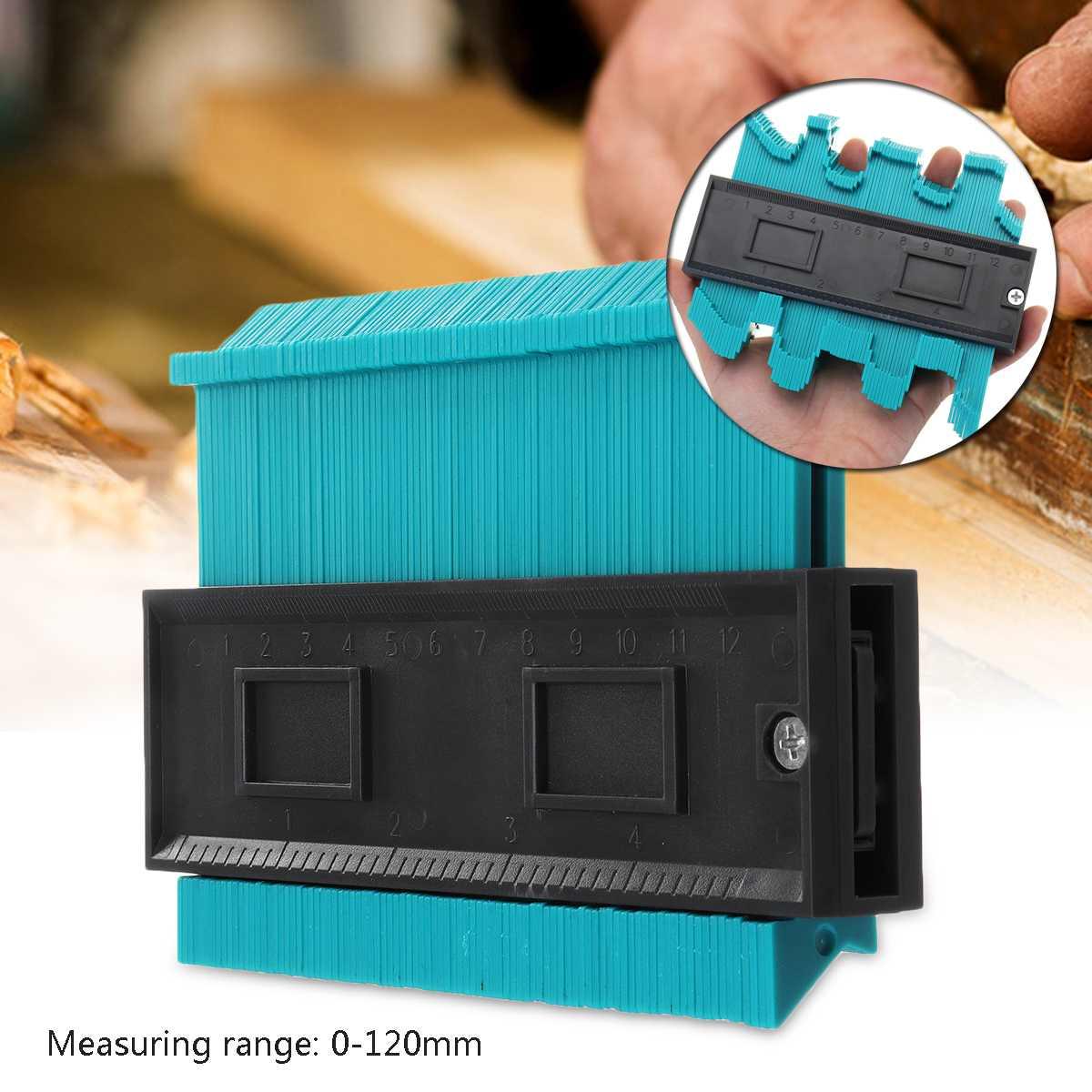 5 pulgadas de perfil de baldosas laminado azulejos borde de madera medida gobernante ABS Contorno de duplicador de 14,6x10,5 cm