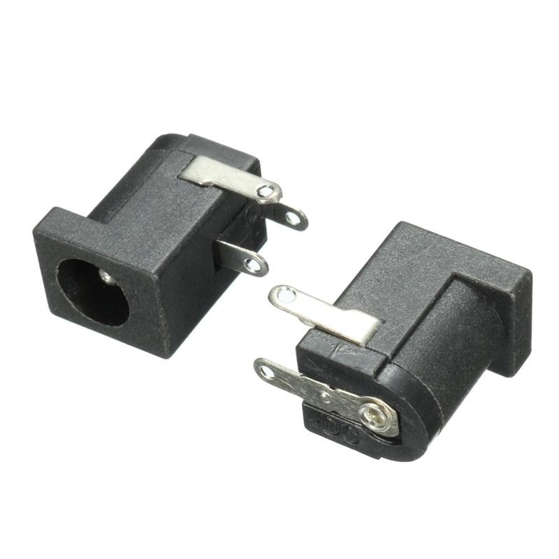10pcs 5.5x2.1mm DC Power Supply Female Jack Socket 3 Legs PCB Mount Connector US