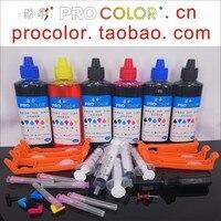 PGI580 580 XL CLI581 PB Dye ink refill kit Setup inkjet cartridge for Canon PIXMA TS8250 TS8251 TS8252 TS 8250 8251 8252 printer|Ink Refill Kits| |  -