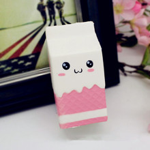Antistress Jumbo Pink Milk Bottle Box 11cm Slow Rising Soft Collection Gift Decoration Toy Gift For Children Adult Novelty Gags
