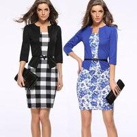ea0e5b110ccee Fake 2 Piece Women Dress Sale Professional Formal Dress Women S Elegant  Dress Women Office Brand
