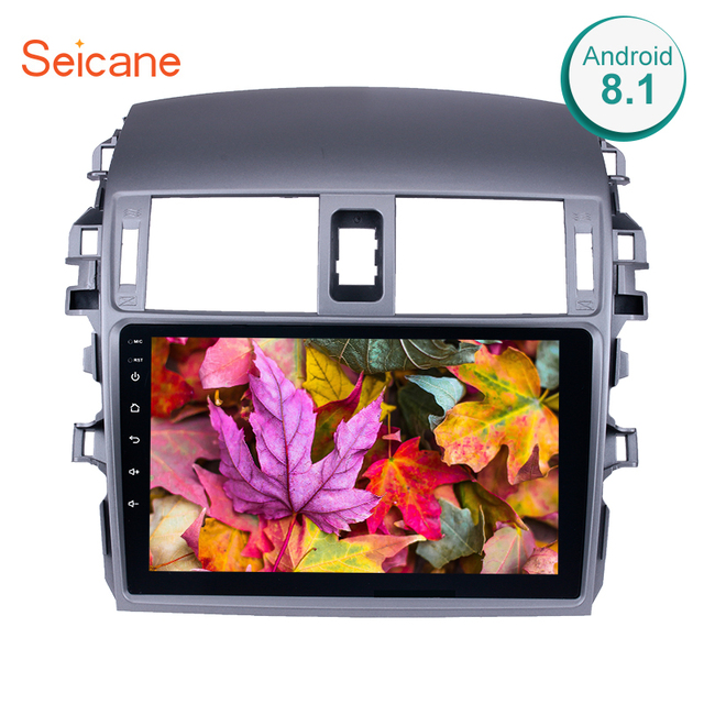 """Seicane Android 6.0/7.1/8.1 9"""" 2Din Car Radio WIFI Bluetooth 4-Core Multimedia Player For 2007 2008 2009 2010 Toyota OLD Corolla"""