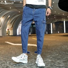 SINAIRSOFT 2019 Spring And Summer New Casual Sports Overalls Multi-pocket Loose Mens Pants