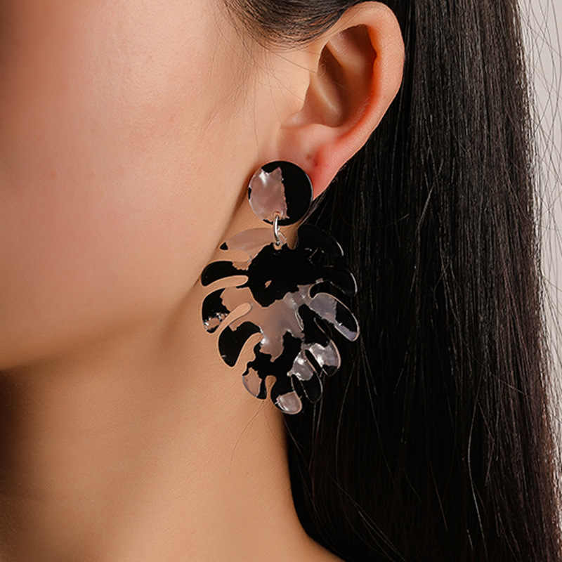 Leaf Earrings For Women Indian Jewelry Boho Vintage Statement Earring Pattern Aretes De Mujer Bijoux