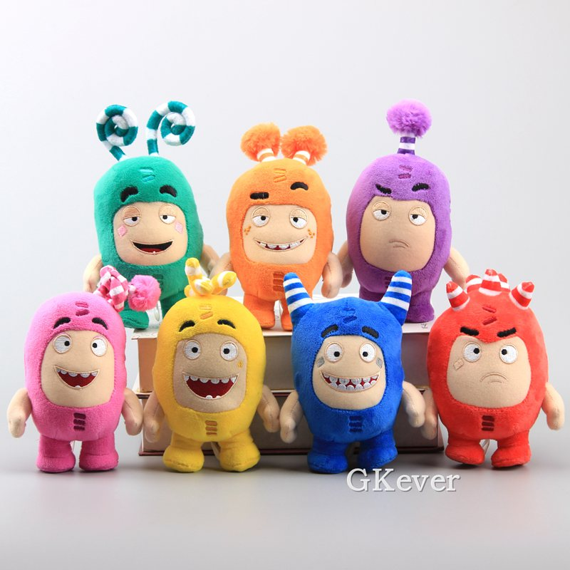 Oddbods 7 Colors Plush Toy Super Cool Soft Stuffed Dolls Children Gift 15-17 Cm