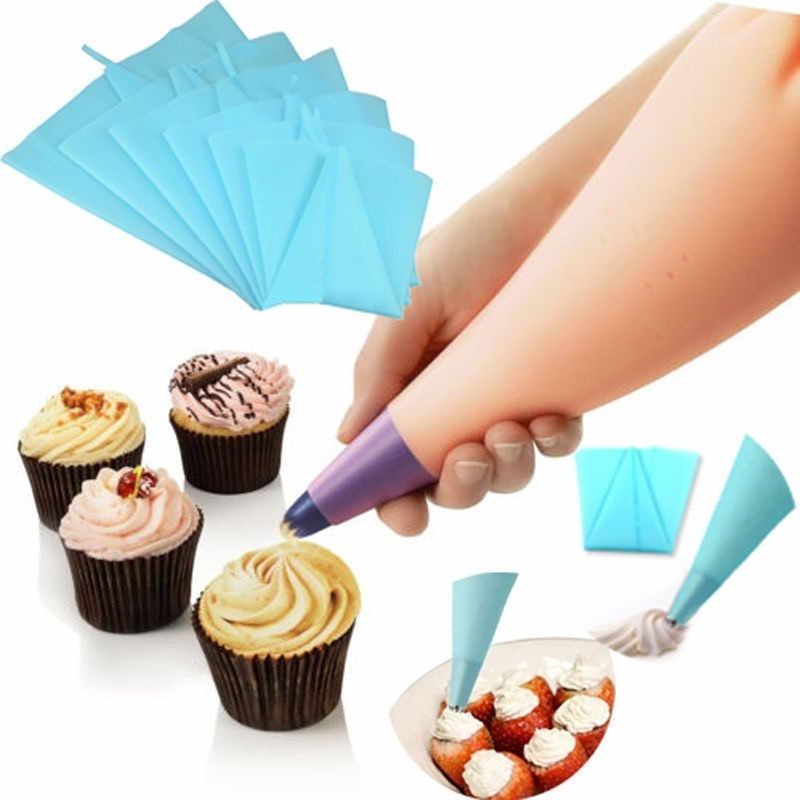 Silikon Küche Zubehör Süßwaren Tasche Icing Piping Creme Gebäck-tasche Düse DIY Kuchen Dekorieren Backen Werkzeuge