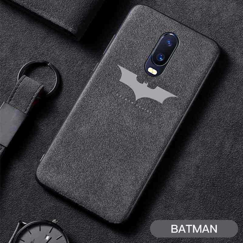 Alcan tara Phone Case For OnePlus 6 6T 5T 5 Luxury Batman Slim Soft Leather Case For One Plus 1+ 6 5 6T 5T Back Cover Coque Capa