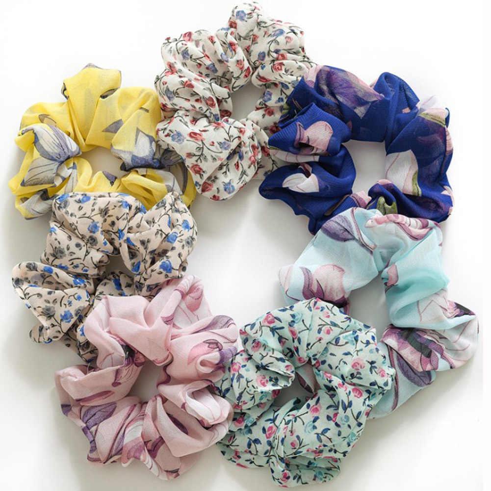Soft Flower Scrunchie