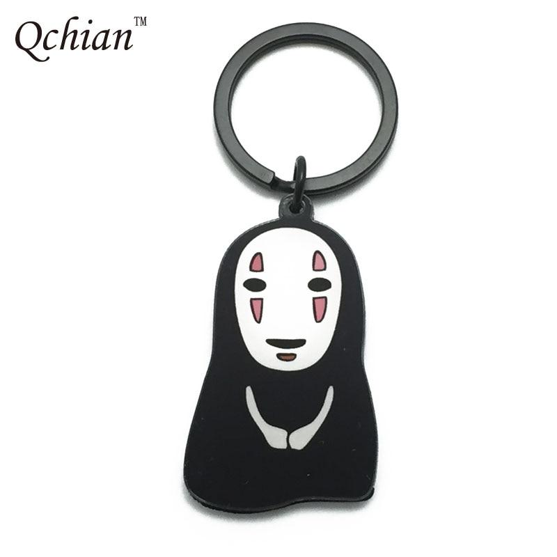Anime Spirtied Away No Face Faceless Cute Resin Key Chain Bag Pendant