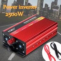 Мощность Инвертор 1800 Вт DC 12 В к AC 220 максимальное напряжение 2500 Вт изменение синусоида конвертер автомобильный заряд конвертер Авто трансфо