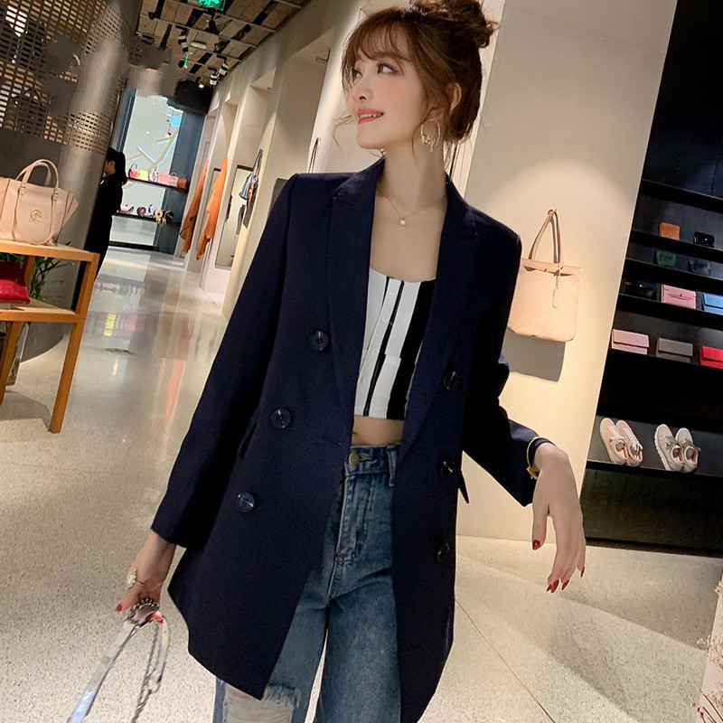 PEONFLY Black Green Women Blazers And Jackets 2019 New Spring Autumn Fashion  Blazer Femenino Ladies Blazer Female