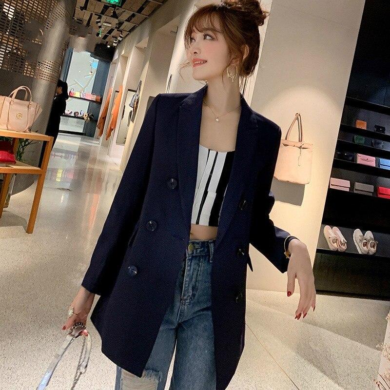 c3f0122a4254 € 14.79 12% de DESCUENTO|PEONFLY negro verde chaquetas y abrigos para mujer  2019 nueva moda Otoño primavera chaqueta Femenino damas Blazer chaqueta ...