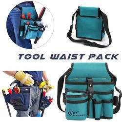 Workpro холст аппаратные средства Оксфорд комплект набор для электрика утолщенная многофункциональная поясная сумка поясная висячая сумка дл...