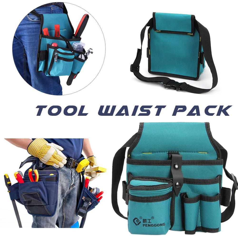 Workpro Canvas Hardware Oxford Kit Electrician Kit Thicken Multifunction Waist Bag Waist Hanging Type Tool Bag
