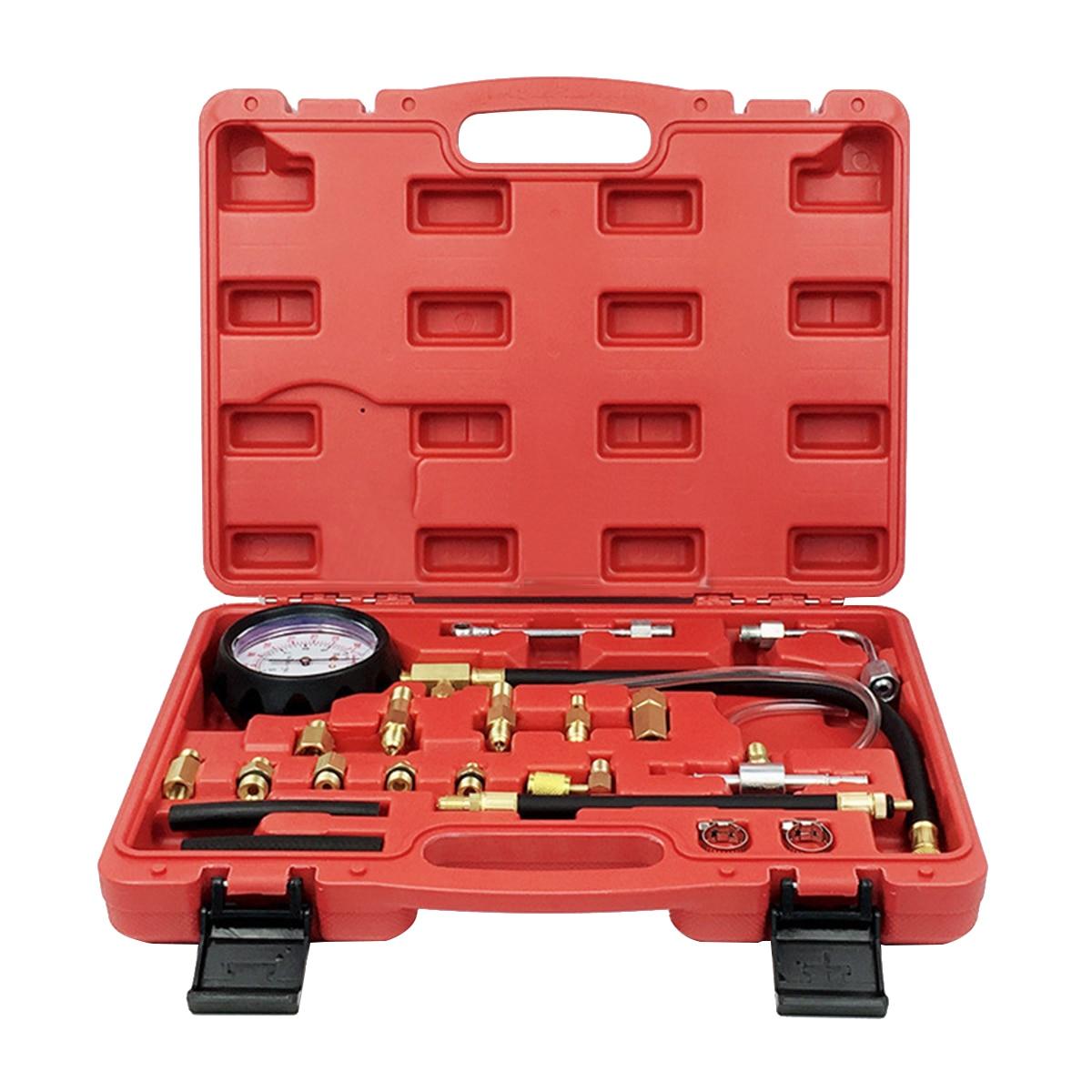 Voiture essence Diesel carburant manomètre testeur pompe d'injection outil de Diagnostic pompe à carburant testeur de pression