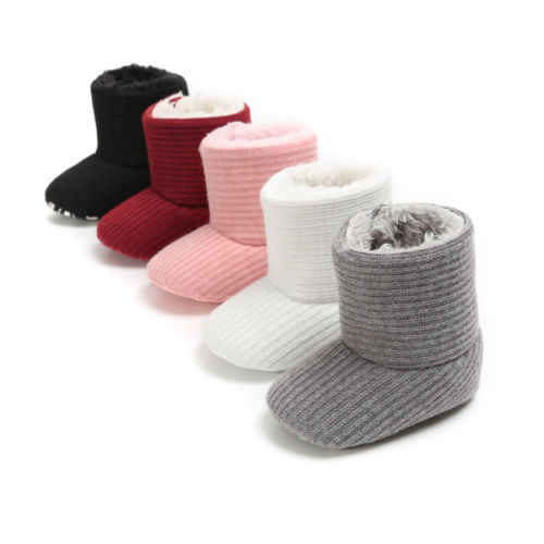 Detail Feedback Questions about 0 18M Newborn Baby Kids Boys Girls Shoes  Winter Boots Warm Fleece Snow Boots Infant Booties Soft Sole Plush Fur  Knitting ... a1c7489e06cc