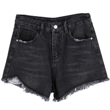 Korean Summer Pocket Denim Shorts For Women Fashion Button Casual High Waist Feminino