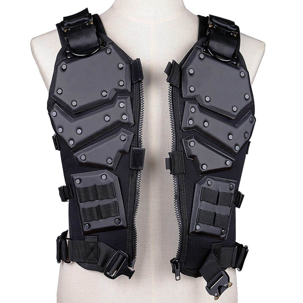 Outdoor Hunting Vest Game Tactical Vest Combat Body Black And Tan Color Armor Vest Waistcoat