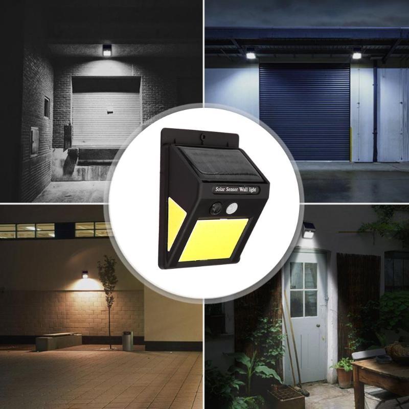 1/4pcs 60 LED COB Solar Lamp Lights Motion Sensor Wall Light Outdoor Waterproof Garden Lamp Energy Saving Solar Powered Pathway