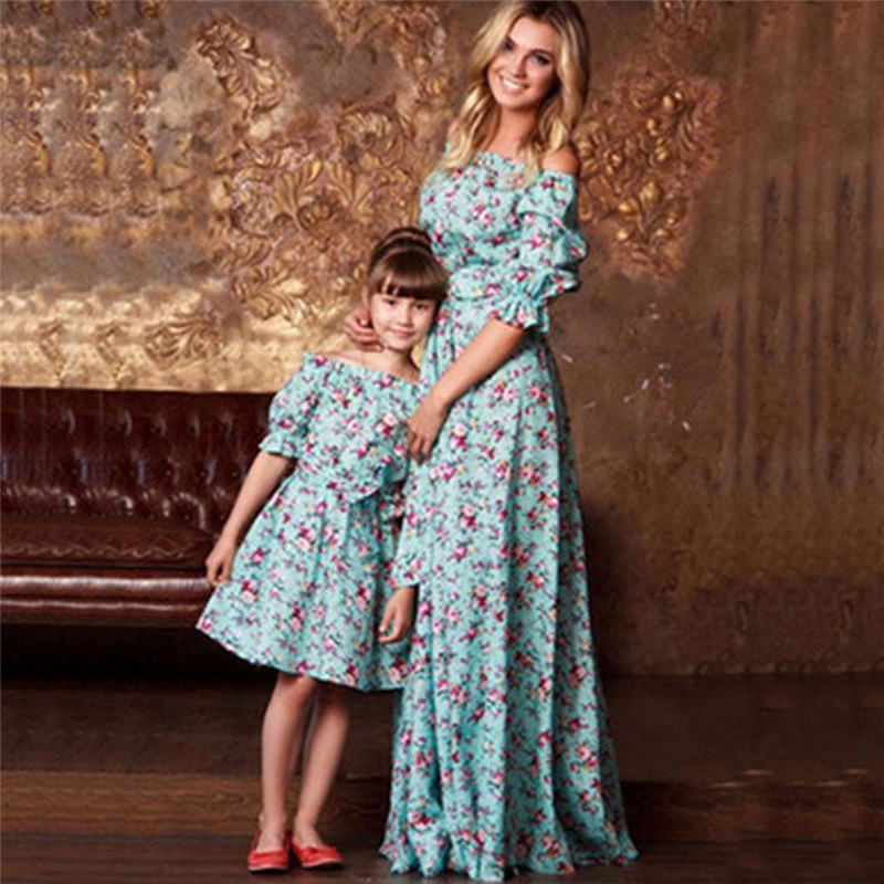 2018 summer style mother daughter dresses family look