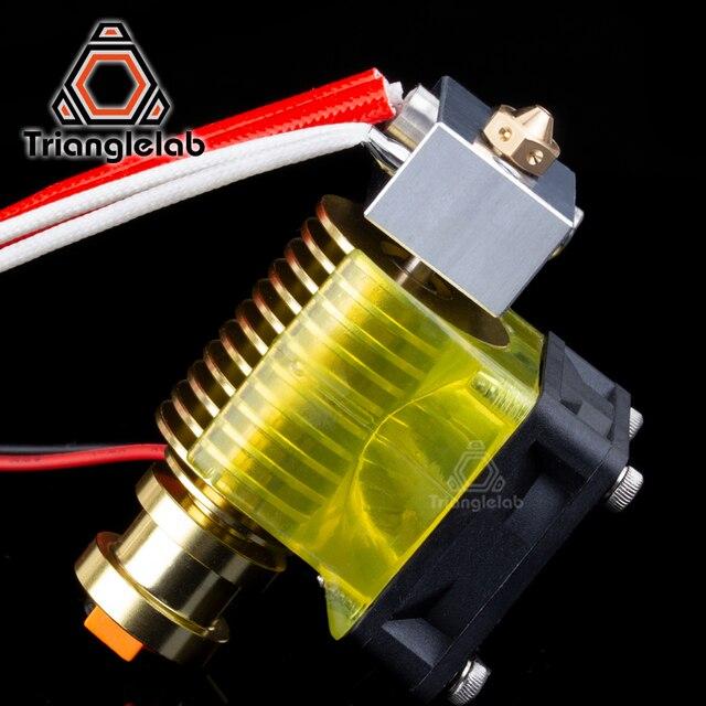 V6 złota radiator v6 hotend 12 V/24 V zdalnego Bowen j-head i wentylator uchwyt do e3D HOTEND do PT100 titan wytłaczarki V6 dyszy