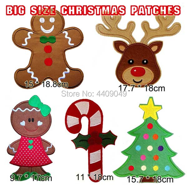 Tall Christmas Tree Cartoon.Us 10 0 18cm Tall Christmas Tree Elf Ginger Bread Boy Reindeer Embroidered Iron On Patch Cosplay Jacket Clothing Patch Diy Wholesale In Patches