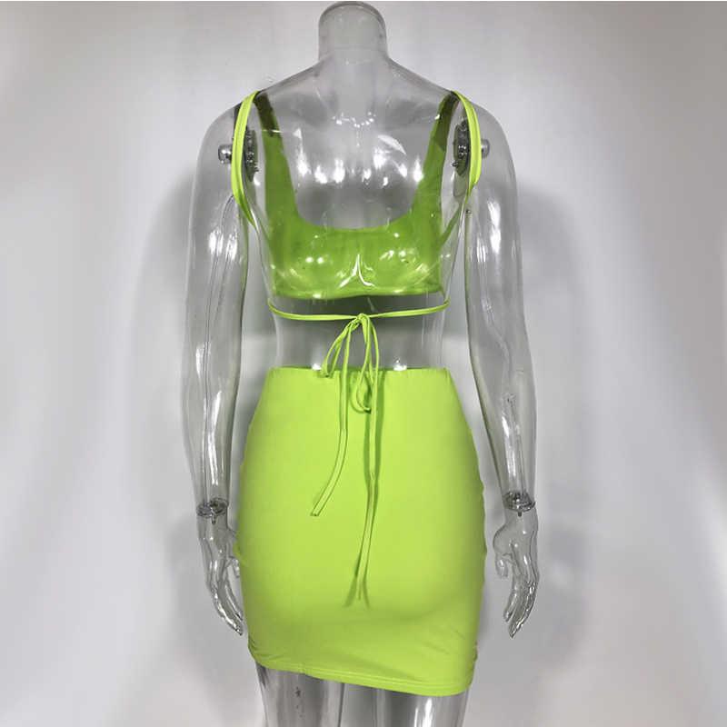 Newasia conjunto de 2 peças feminino, conjunto duas peças top cropped e saia conjunto com duas peças roupas combinando roupa de corrida ativa