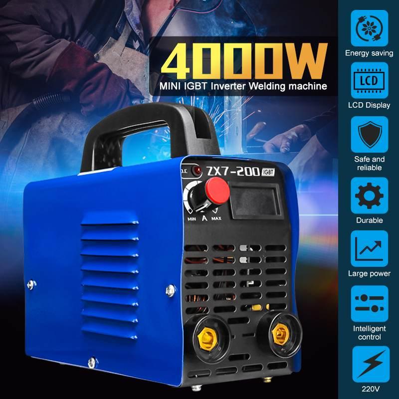 20A-200A 4000 Вт регулируемый портативный мини ручной IGBT инвертор дуговой сварочный аппарат цифровой электросварочный инвертор инструмент