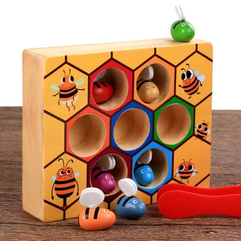 Early Educational Toys For Children Hive Board Games Entertainment Building Blocks Montessori Balance Training Wooden Toys Gift