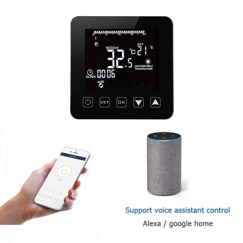Универсальный Wi-Fi регулятор температуры нагревательный термостат цифровой ЖК-сенсорный экран контроллер температуры Терморегулятор