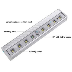 Image 3 - Luz super brilhante de led, 8 * smd para barra de sensor de ímã para gabinete, guarda roupa, bateria, sensor de movimento pir, luz led noturna luz clara