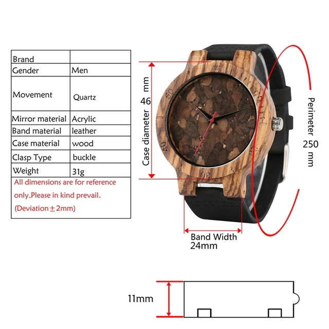 Retro Wood Watch Unique Broken Leaves Face Light Zebra Bamboo Wooden Quartz Wristwatches Clock Male Hour Gift Light Wooden Watch