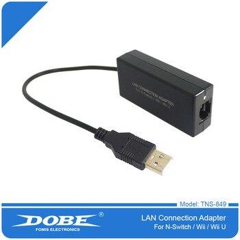 2018 nuevo Cable conector USB Plug and Play Internet Ethernet de red LAN para Nintendo Switch NS para Wii/U adaptador de red LAN