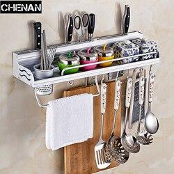 Aluminum Pantry Cookware Spice Dinnerware Shelf Storage Cutlery Holder Hook Kitchen Organizer  Foldable  towel