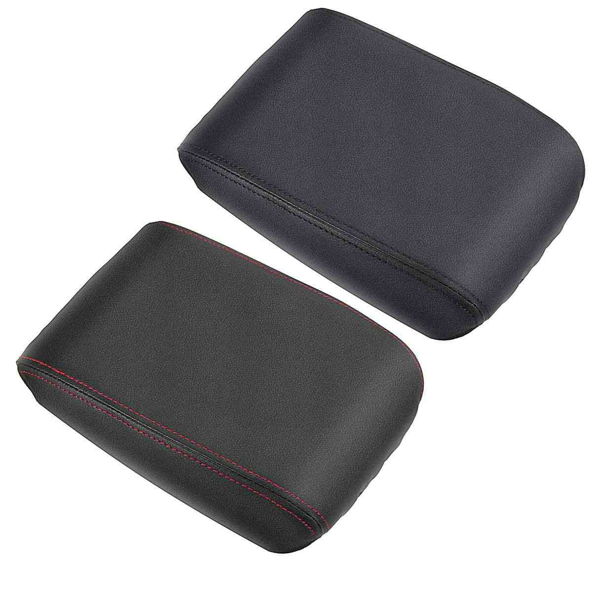 Car PU Leather Center Console Seat Armrest Arm Rest Box Pads Cover For Volkswagen For VW Tiguan MK2 2016 2017 2018