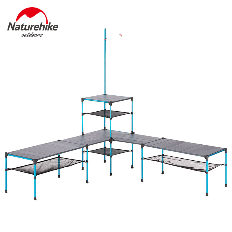 Naturehike Folding Table Outdoor Portable Ultra Light Camping Changeable Picnic Barbecue Dinner Party Table Also As BBQ Table