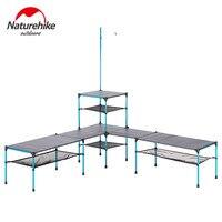 Naturehike katlanır masa açık taşınabilir Ultra hafif kamp değiştirilebilir piknik barbekü yemeği parti masa olarak da barbekü masa